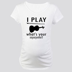 Cool Violin Designs Maternity T-Shirt